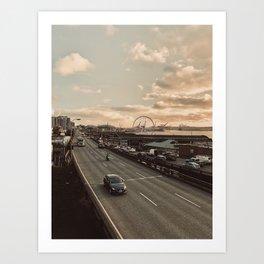 Seattle Ferris Wheel Art Print