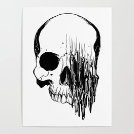Skull #5 (Distortion) Poster