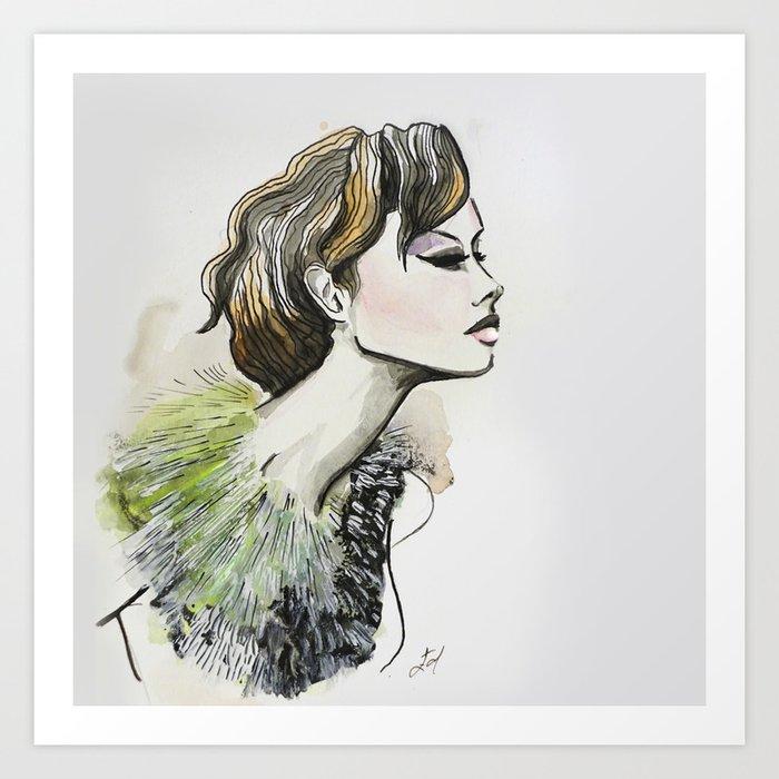 Dodo feathers  Art Print