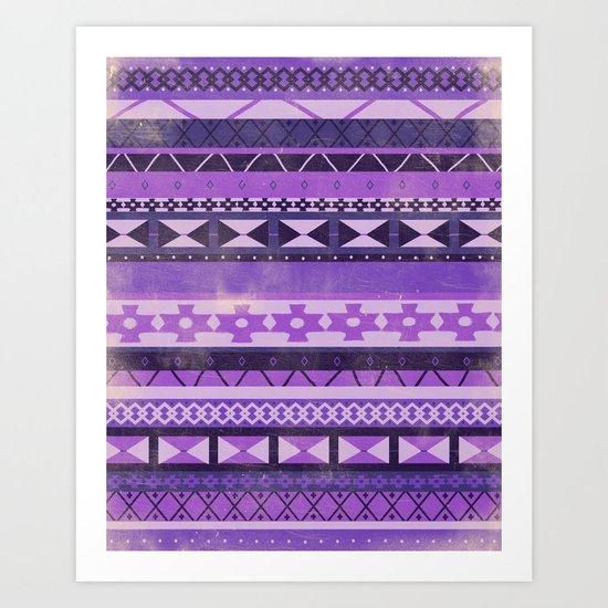 Native Spirit (Purple) Art Print