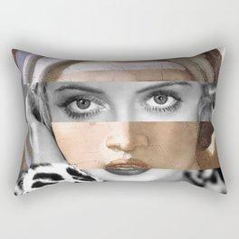 Michelangelo's Sibilla Delfica & Bette Davis Rectangular Pillow