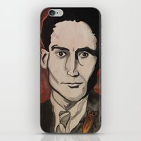 kafka iPhone & iPod Skins featuring Franz Kafka by Emily Storvold