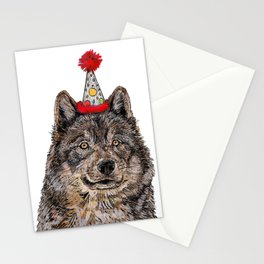 Wolf Party Stationery Cards