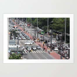 Paulista Avenue, São Paulo / Brazil Art Print