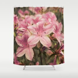 Flowers in the japonese garden of Monaco Shower Curtain
