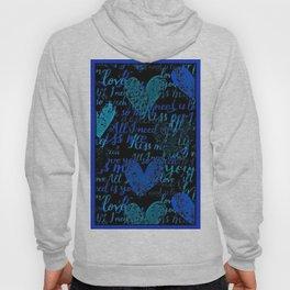 Kiss Me, Miss me Blue Hoody
