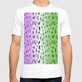 Leopard fur Purple and green gradient  T-shirt