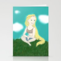coachella Stationery Cards featuring Coachella Rapunzel by Zoelogy