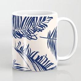 Blue Palm Leaves x Dry Brush Coffee Mug