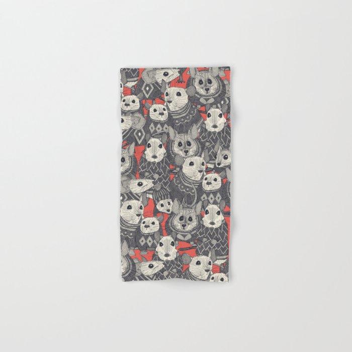 sweater mice coral Hand & Bath Towel