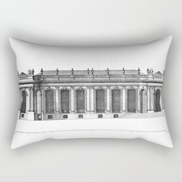 Palais de Bourbon in Paris 1752 Rectangular Pillow