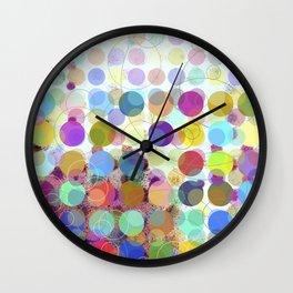 Colorful Dots No. 1 Wall Clock