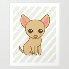 Pinky the Chihuahua  Art Print