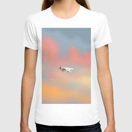Light aircraft in the evening, T-shirt