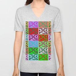 Patternless-squares-pattern Unisex V-Neck