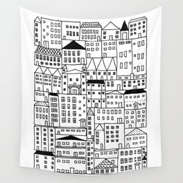 cityscape Wall Tapestry