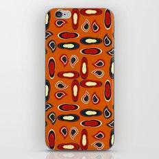 Orange paisley iPhone Skin