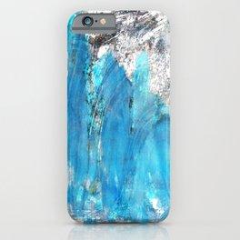 Modern Abstract Art - Blue Essence - Sharon Cummings iPhone Case