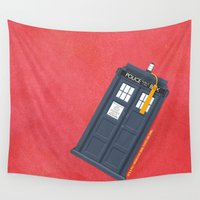 doctor Wall Tapestries featuring 11th Doctor - DOCTOR WHO by LindseyCowley