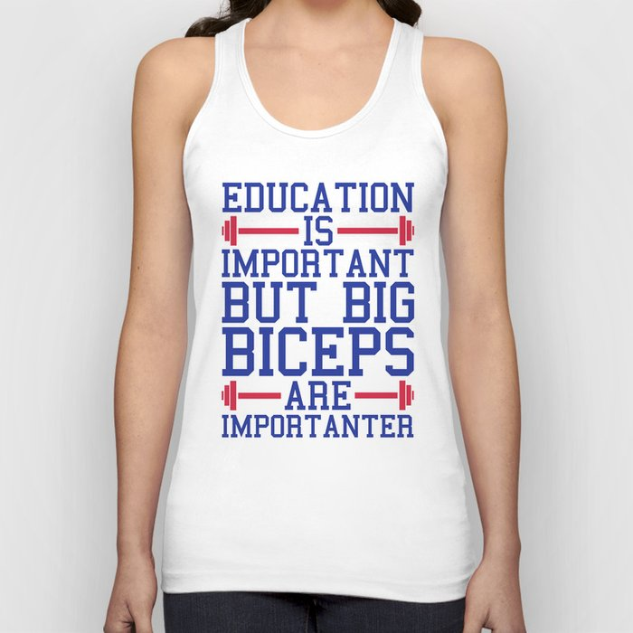 3d05c4b2 Big Biceps Gym Quote Unisex Tank Top by jcanimals | Society6