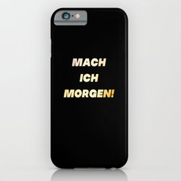 Funny Lazy Chill saying slogan humor iPhone Case