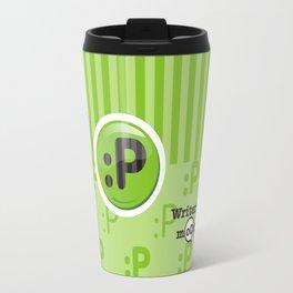 Green Writer's Mood Travel Mug