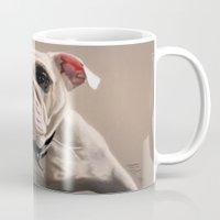 british Mugs featuring British Bulldog by Mel Hampson