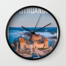 Visit Lithuania Wall Clock