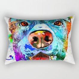 Doberman Pinscher Grunge Rectangular Pillow