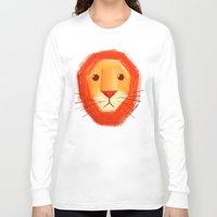 lion Long Sleeve T-shirts featuring Sad lion by Lime