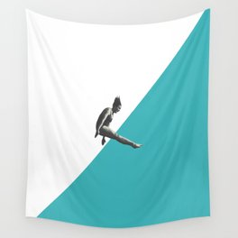 Diver (turquoise) Wall Tapestry