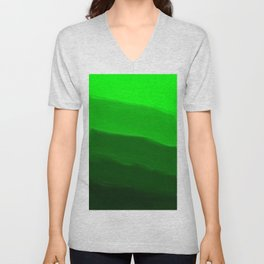 Ombre in Green Unisex V-Neck