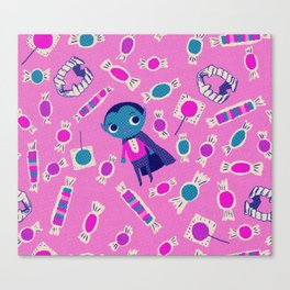 Vampire in Pink Canvas Print