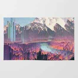 Glitched Landscapes Collection #2 Rug