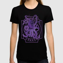 Beware of Kraken Deep Sea Diving Purple Octopus Sea Monster T-shirt