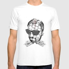 R.K.PRINT Mens Fitted Tee White MEDIUM