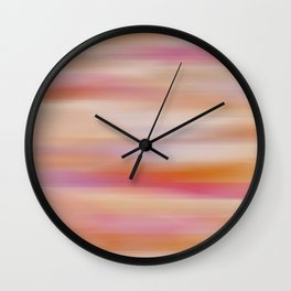 Purple, Pink, Orange Abstract Wall Clock