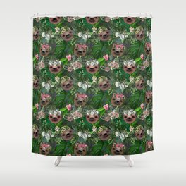 Boho Sloths Shower Curtain