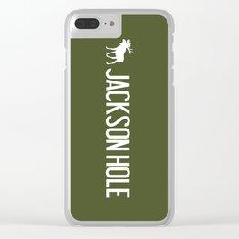 Moose: Jackson Hole, Wyoming Clear iPhone Case