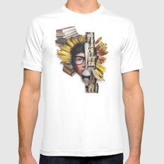 Timber | Collage White MEDIUM Mens Fitted Tee