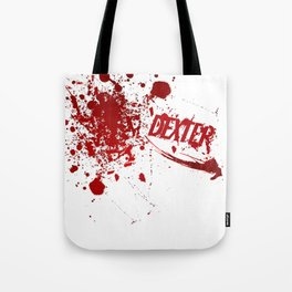 Dexter blood spatter Tote Bag
