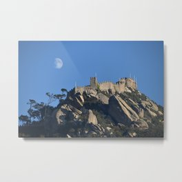 Magical Full Moon above the Castle of the Moors, Portugal Metal Print