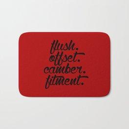 flush offset camber fitment v3 HQvector Bath Mat