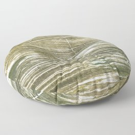 Dark green abstract Floor Pillow