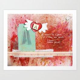 the Measure of Love Art Print