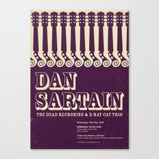 Dan Sartain Gig Poster Canvas Print