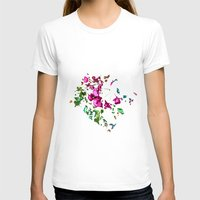 free shipping T-shirts featuring Rose garden by Ordiraptus