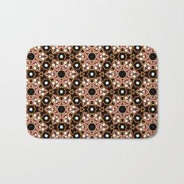 Black Pink and Gold Beadwork Inspired Print Bath Mat