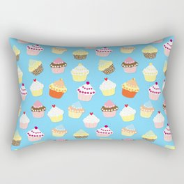 Pale Pastel Blue Cup Cakes Rectangular Pillow