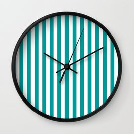 STRIPED DESIGN (TEAL-WHITE) Wall Clock